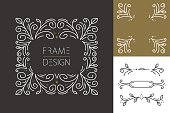 Retro hispter monogram frame set design
