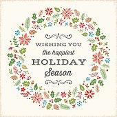 Retro Holiday Card