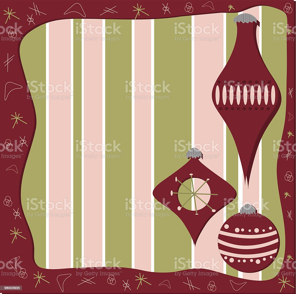 Retro Holiday Frame royalty-free retro holiday frame stock vector art & more images of 1950-1959