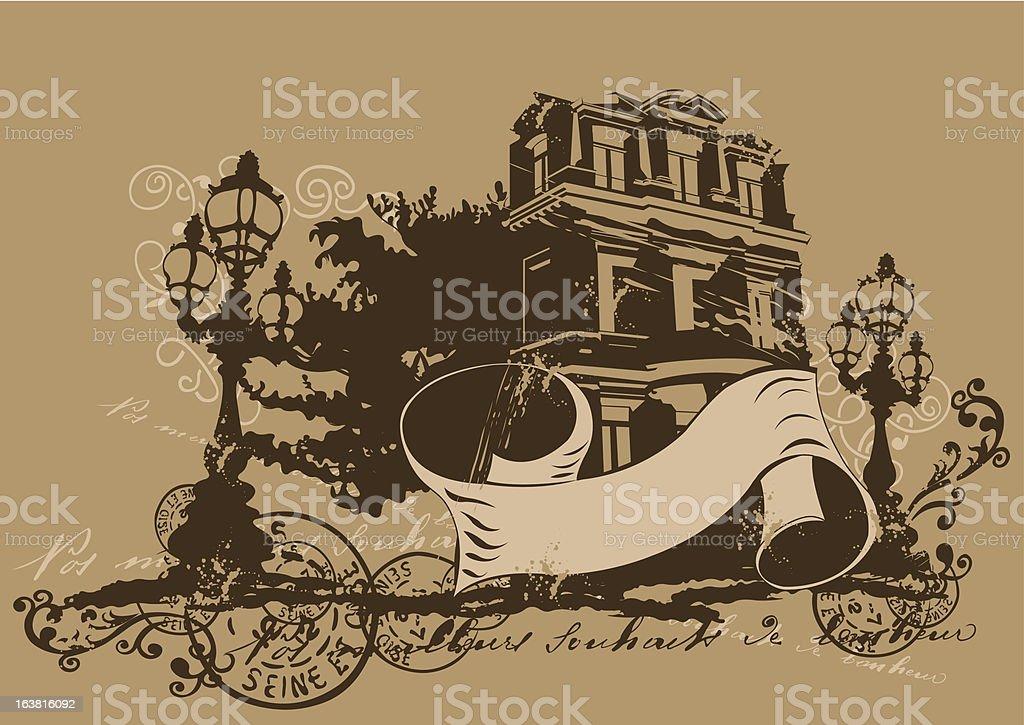 Retro house royalty-free stock vector art