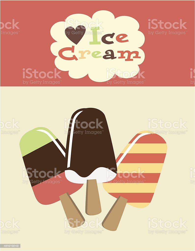Retro ice cream poster royalty-free retro ice cream poster stock vector art & more images of chocolate