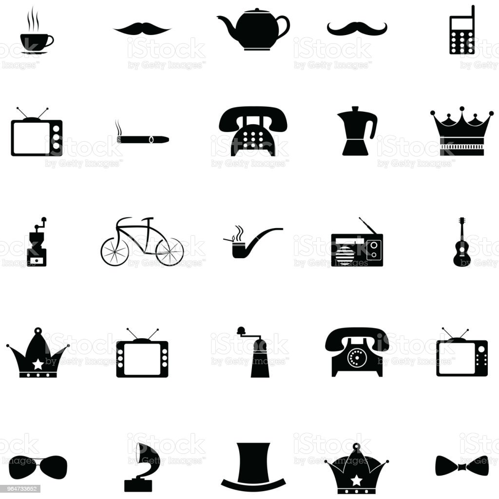retro icon set royalty-free retro icon set stock vector art & more images of badge