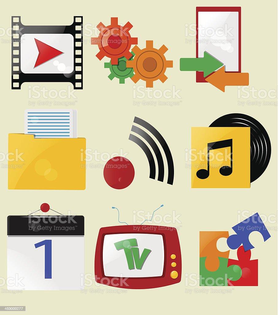 Retro icons. royalty-free stock vector art