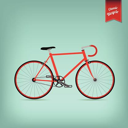 Retro Illustration Vector Bicycle
