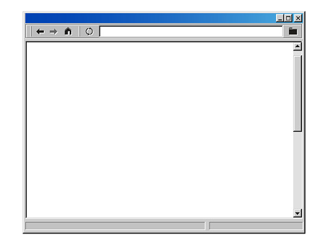Retro internet browser window stylized as old user interface