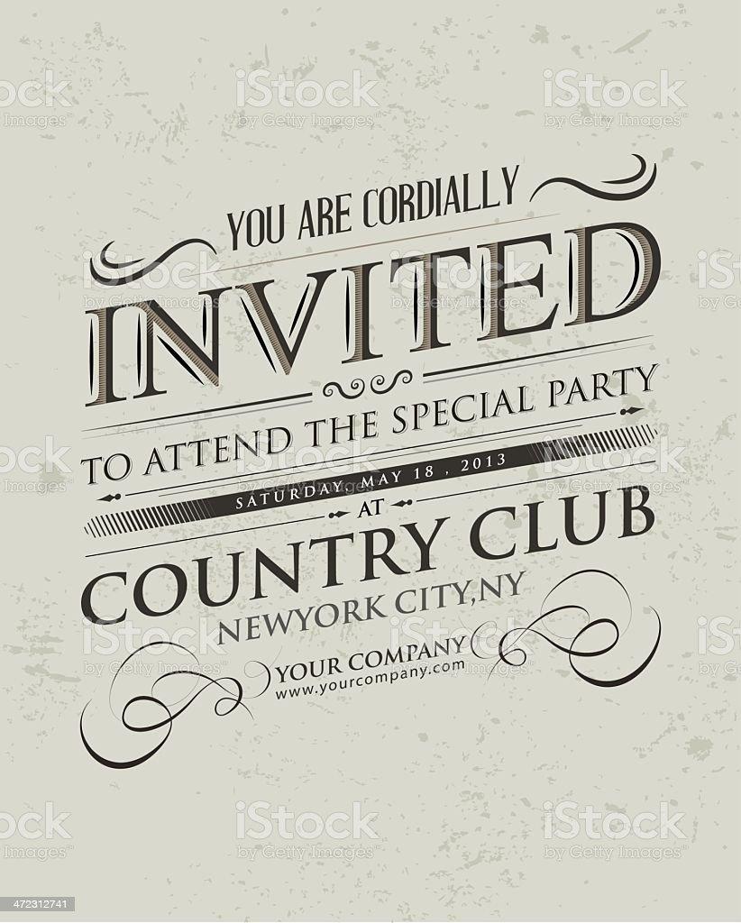 Retro Invitation typography royalty-free retro invitation typography stock vector art & more images of banner - sign