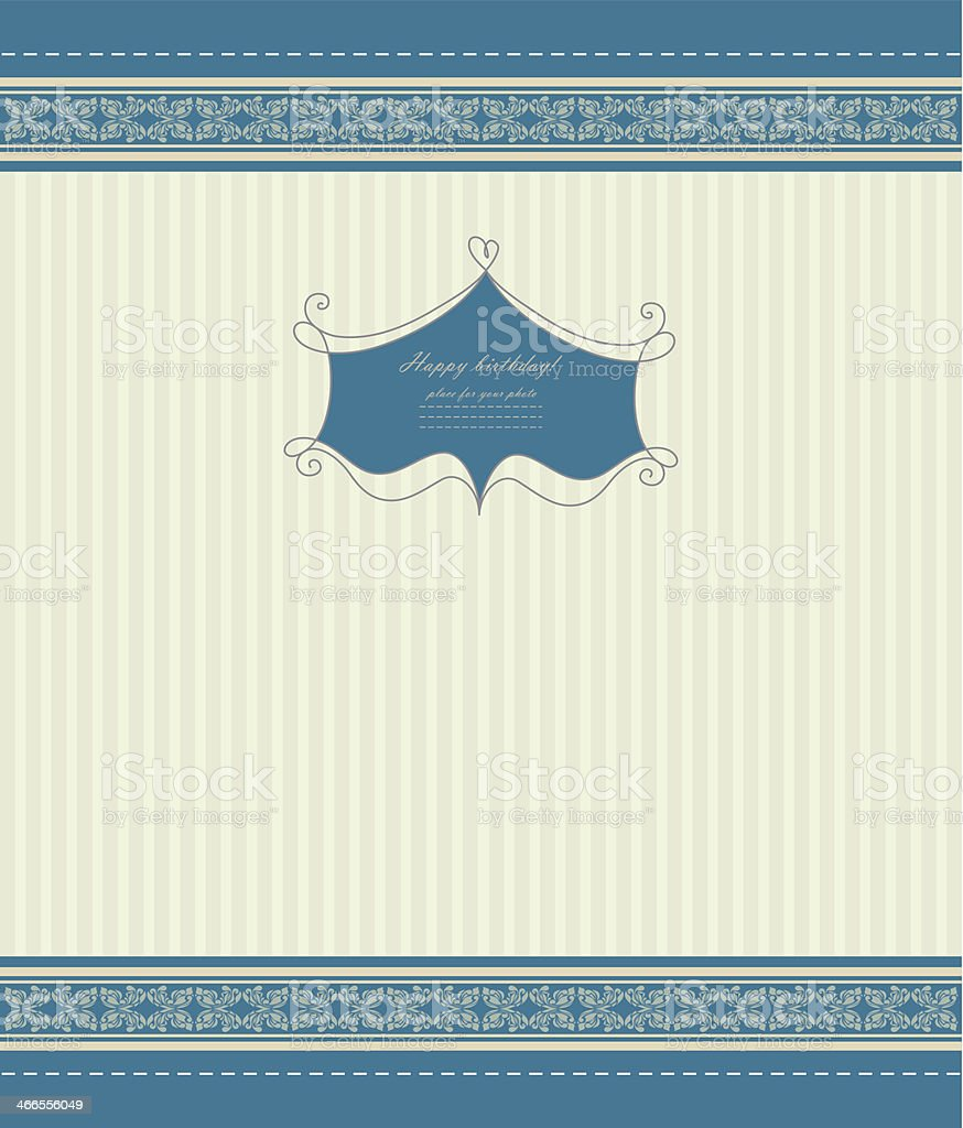 Retro invitation with template vector royalty-free stock vector art