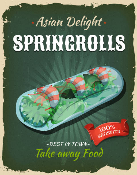 Best Spring Roll Illustrations, Royalty-Free Vector Graphics & Clip