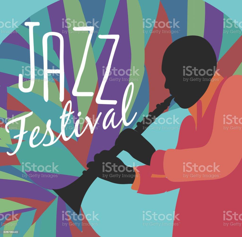 Retro Jazz festival Poster vector art illustration