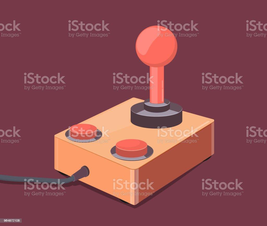 Retro joystick gamepad royalty-free retro joystick gamepad stock vector art & more images of activity