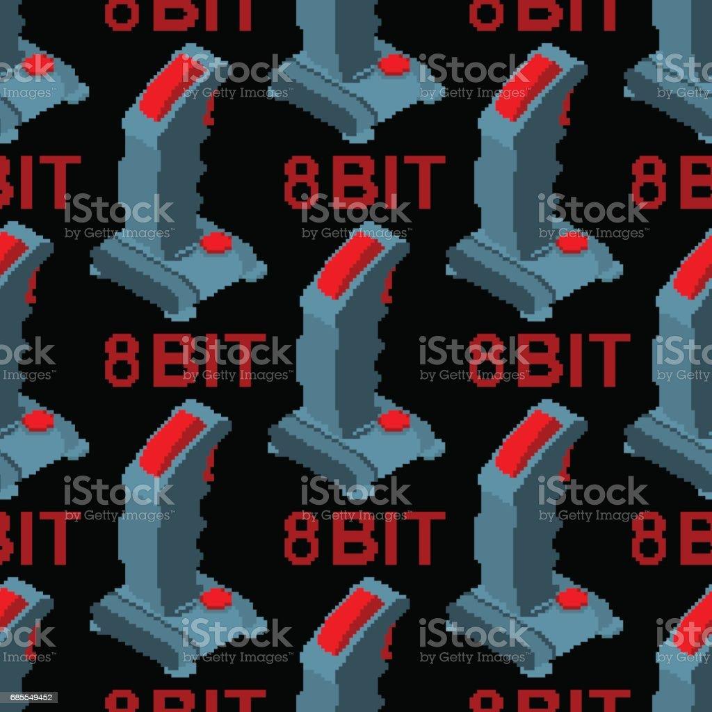 復古的操縱杆轉向模式。老遊戲台輪視頻遊戲 texturr。遊戲控制器 8 位背景 免版稅 復古的操縱杆轉向模式老遊戲台輪視頻遊戲 texturr遊戲控制器 8 位背景 向量插圖及更多 器材 圖片