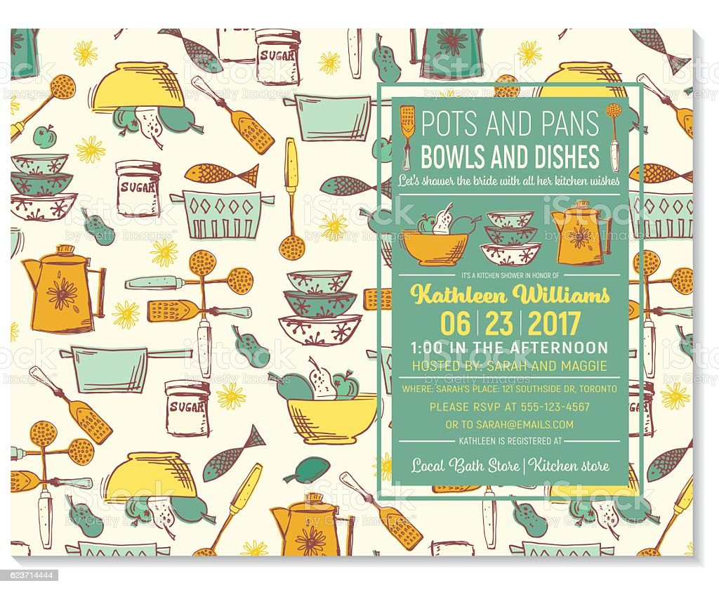 retro kitchen bridal shower invitation template royalty free retro kitchen bridal shower invitation template stock