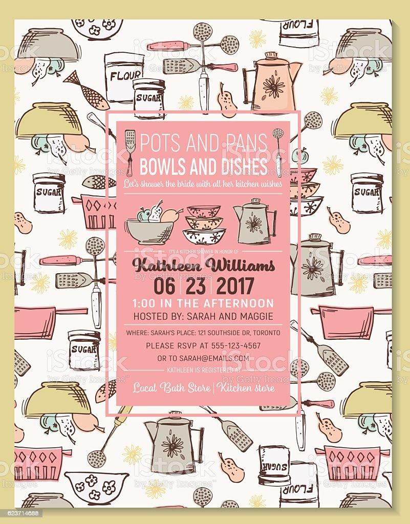 Retro kitchen bridal shower invitation template stock vector art retro kitchen bridal shower invitation template royalty free retro kitchen bridal shower invitation template stock filmwisefo