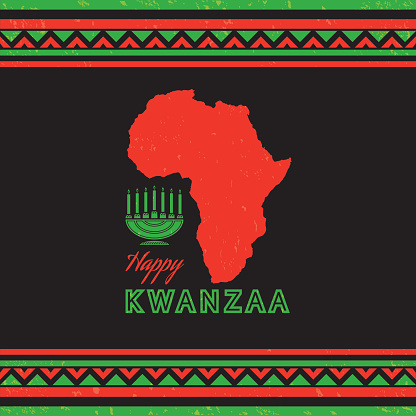 Retro Kwanzaa Celebration Card