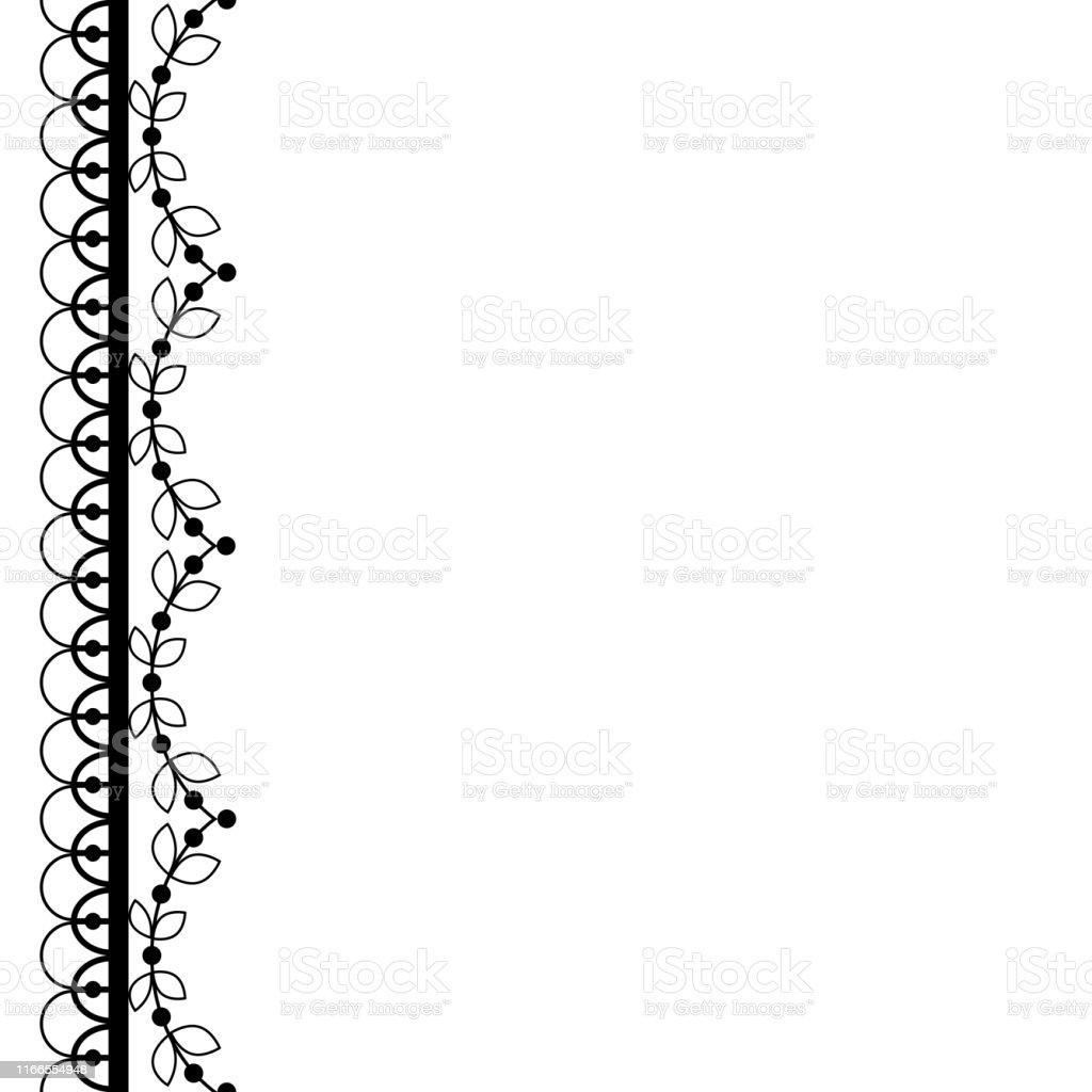 Ilustración De Retro Encaje Patrón Vectorial Tarjeta De