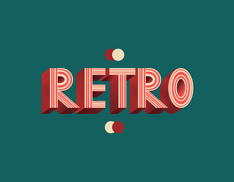 Retro lettering.Retro vintage 3d vector lettering. 80s bold font, typeface. Pop art stylized text.Typography design.