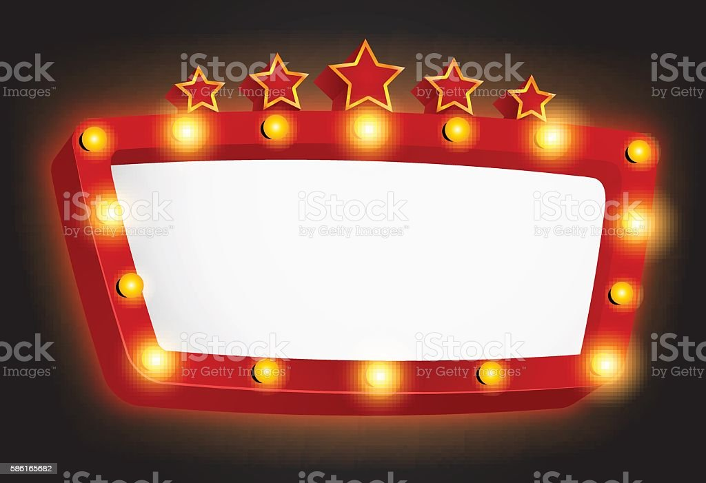 Retro Light Frame With Star Stock Vector Art & More Images of Awards ...