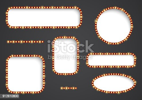 Vector frame with light effect. Illustration in vintage style for dalneyshgo design and your label. Retro sign.