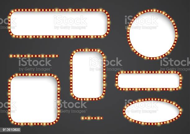 Retro light frames vector id912610800?b=1&k=6&m=912610800&s=612x612&h=pfobpyizxuu5cog5o1pj0tsed2 6szgttvoomiz9t9w=