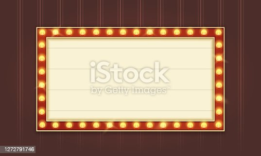 istock Retro Lightbox Template With Red Border and Straight Corners 1272791746