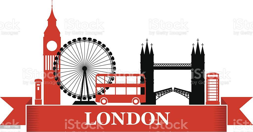 Retro London Label vector art illustration
