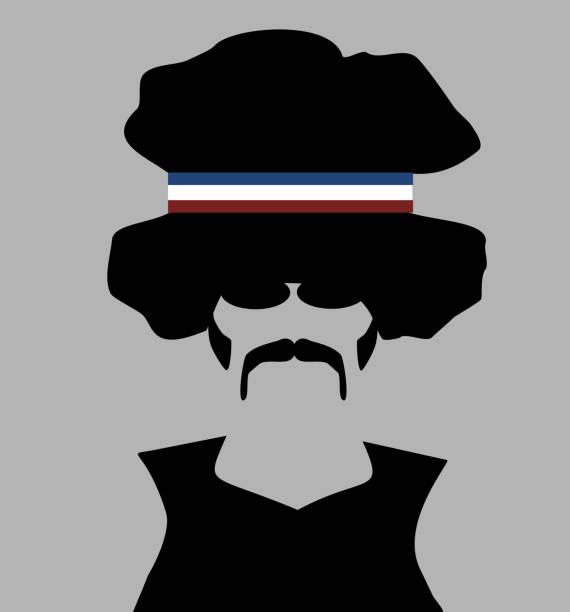 retro ma headband - old man sunglasses stock illustrations, clip art, cartoons, & icons