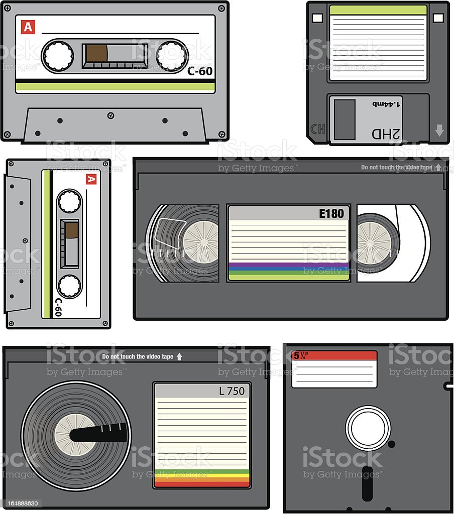Retro Magnetic Media royalty-free stock vector art