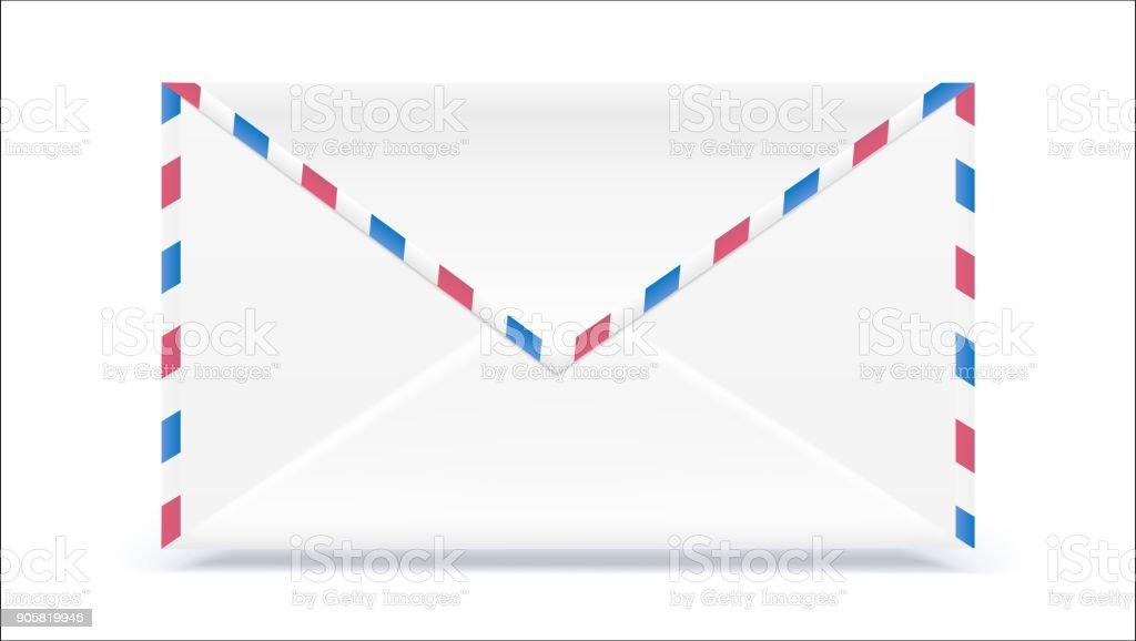 Retropost Umschlag Form Mit Textureffekt Isoliert Auf Weißem