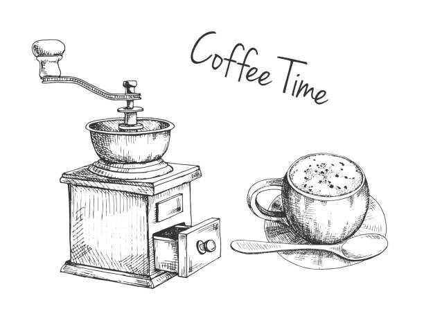 Royalty Free Grinding Coffee Clip Art, Vector Images