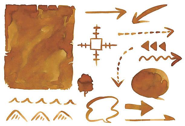 Retro map vector art illustration