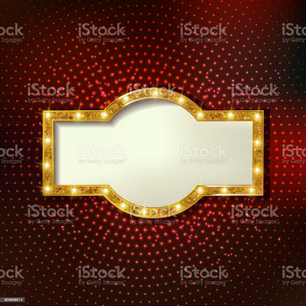 Retrofestzelt Stilvollen Rahmen Mit Glühbirnen Stock Vektor Art und ...
