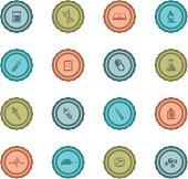 Retro Medical Research Badges