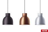 Retro Metallic stylish ceiling cone lamp