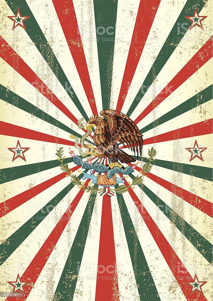 retro mexican sunbeams poster vector art illustration