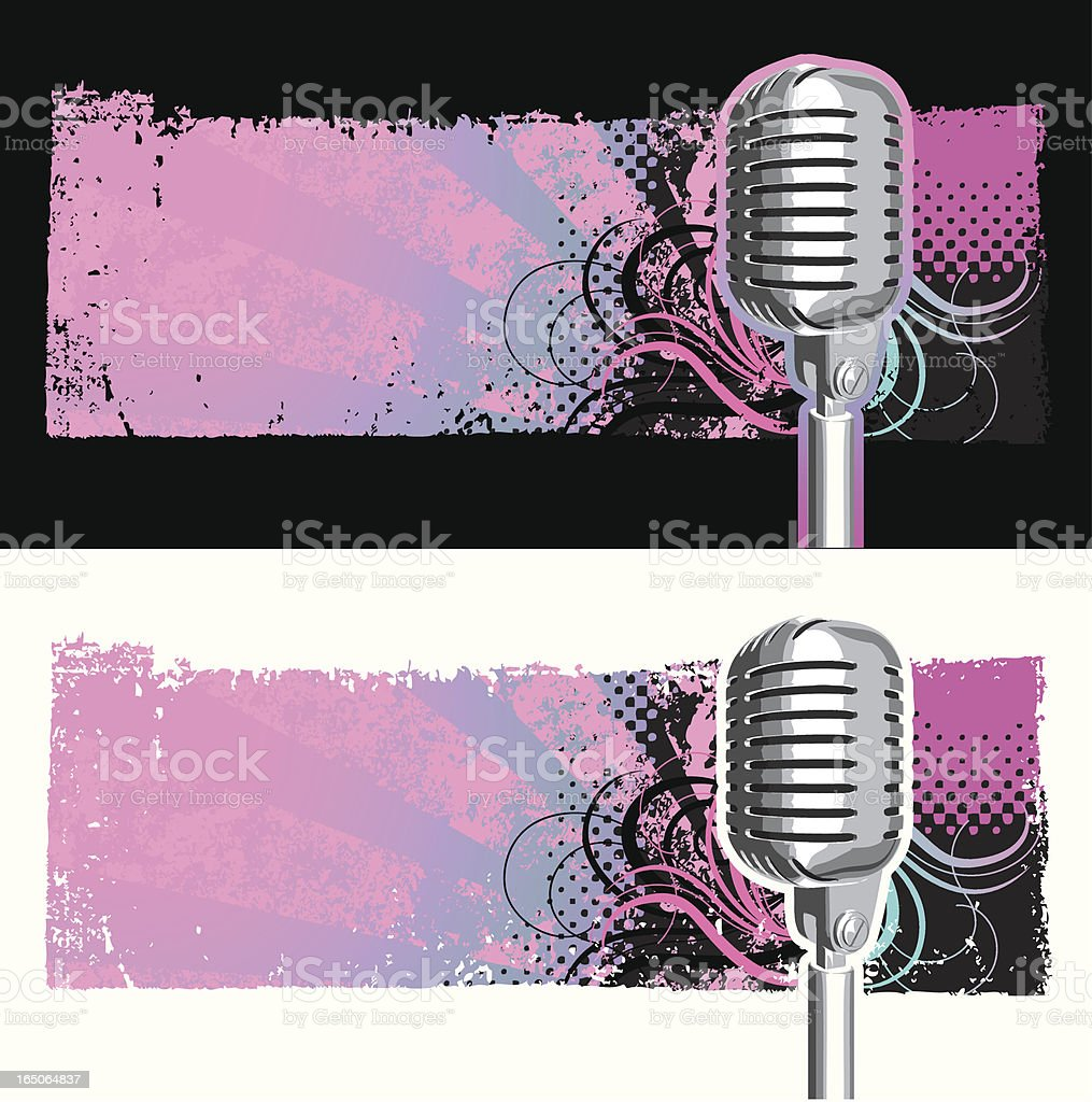 Retro-Mikrofon Hintergrund – Vektorgrafik