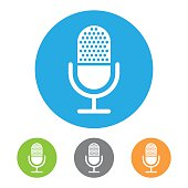 Retro Microphone Symbol icon