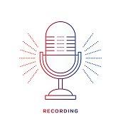 istock Retro Microphone Symbol 478252022