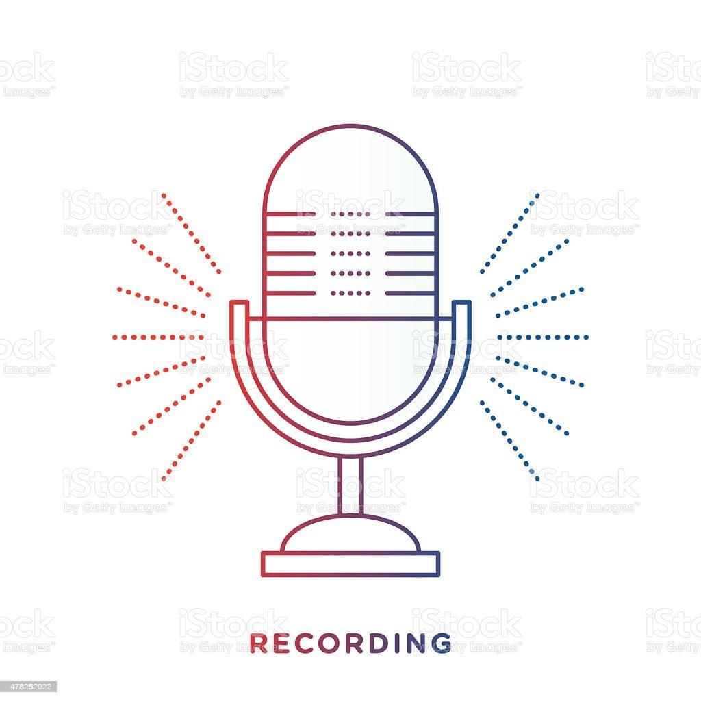 Retro Microphone Symbol vector art illustration