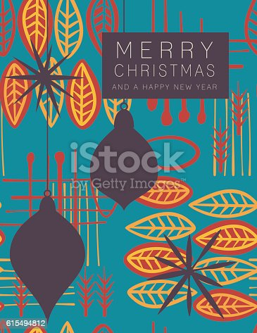 retro mid century modern style holiday card stock vector art more images of 1950 1959 615494812 istock