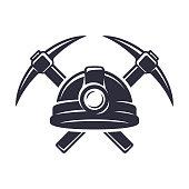 Retro mining badge