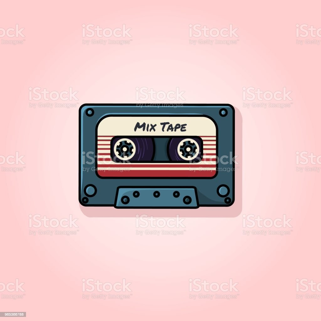 Retro mix tape flat vector illustration royalty-free retro mix tape flat vector illustration stock vector art & more images of 1980-1989