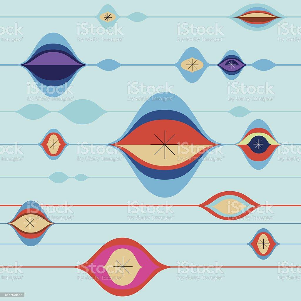 Retro Modern Tiling Background vector art illustration