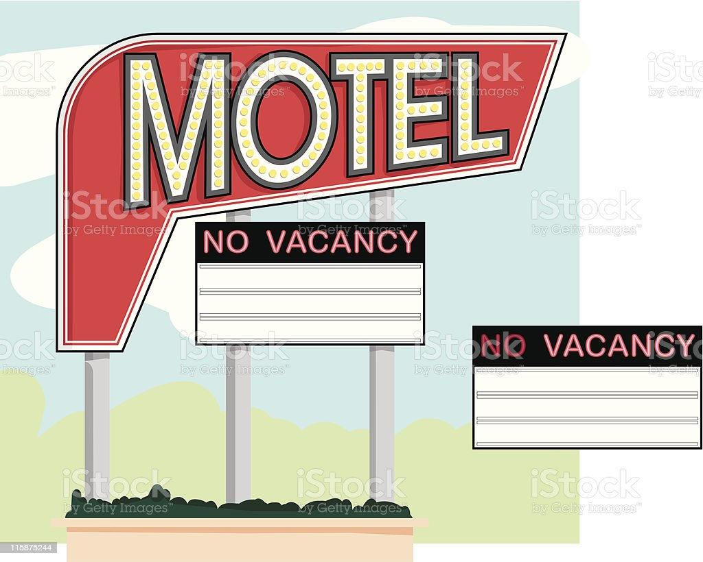 Retro Motel Sign royalty-free retro motel sign stock vector art & more images of book