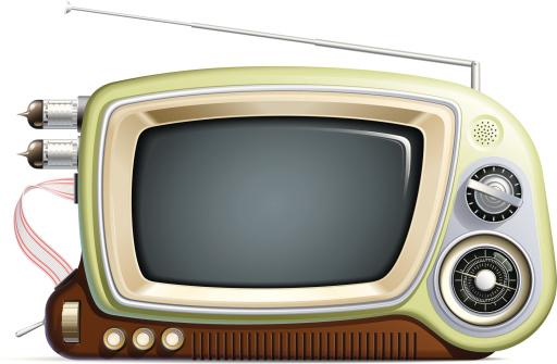 Retro Multimedia Device-vektorgrafik och fler bilder på Antenn - Telekommunikationsutrustning