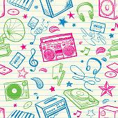 Retro old school music background