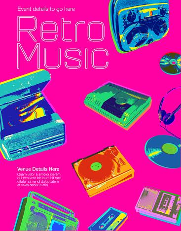 Retro Music Icons - Poster
