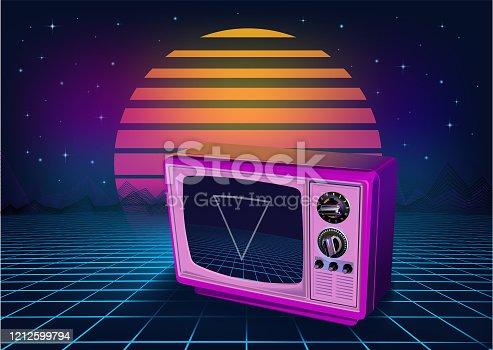 istock Retro neon Background 1212599794
