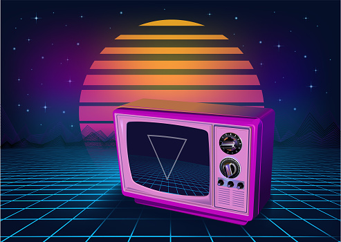 Retro neon Background