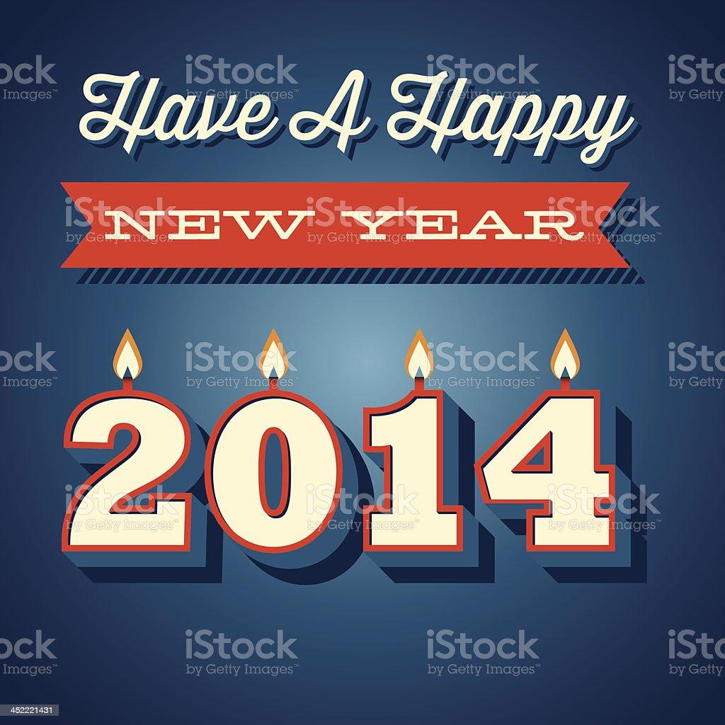 Retro New Year Greeting royalty-free stock vector art