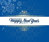 drawn of vector retro style new year card.This file has been used illustrator cs3 EPS10 version feature of multiply.